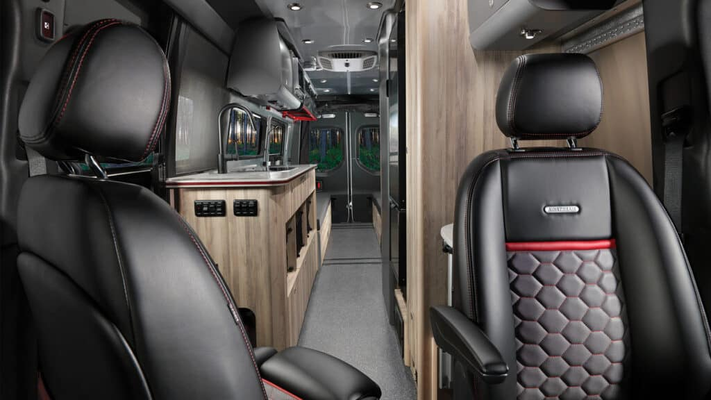 Front to back interior photo of the Airstream 24X