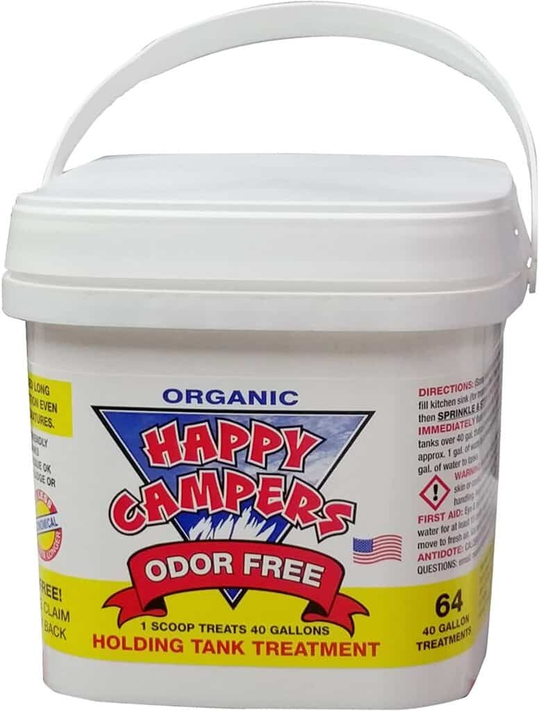 white bucket of Happy Camper Holding Tank Treatment product