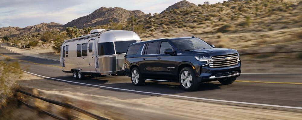 EV towing a camper