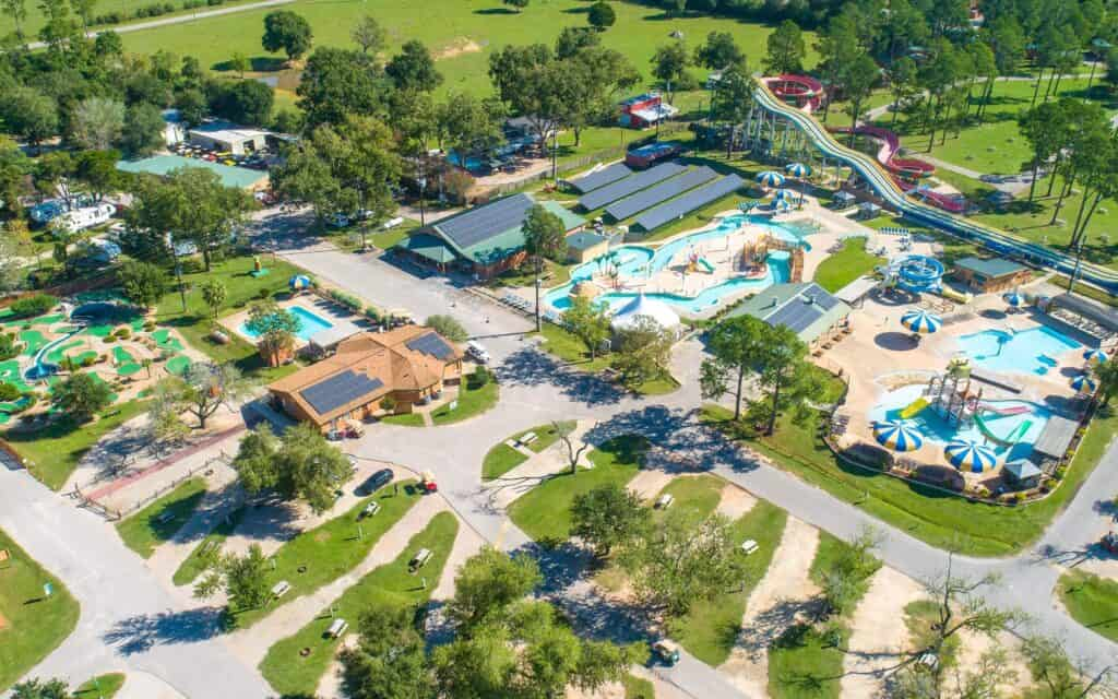 aerial view of Jellystone Park