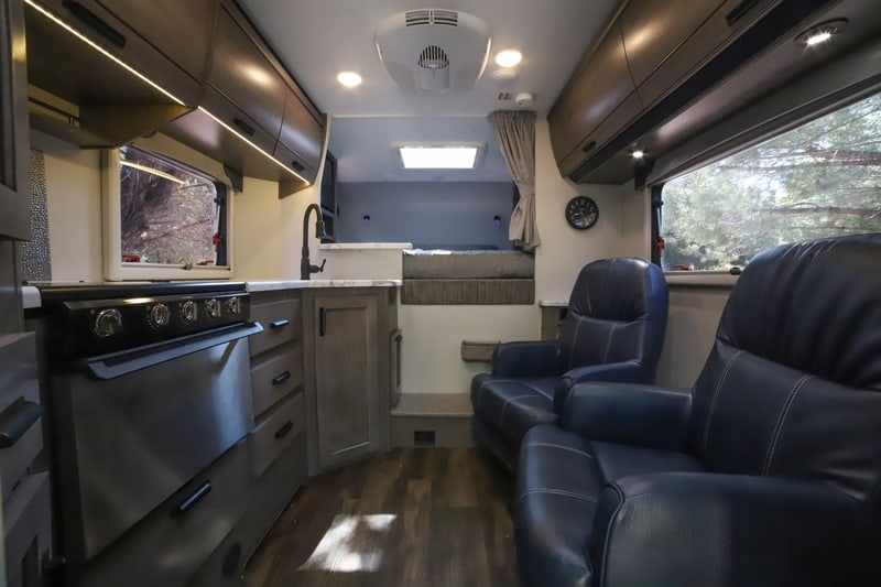 best truck camper models - the 960 view from behind camper