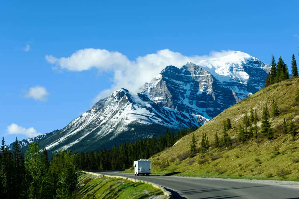 RV driving in national parks