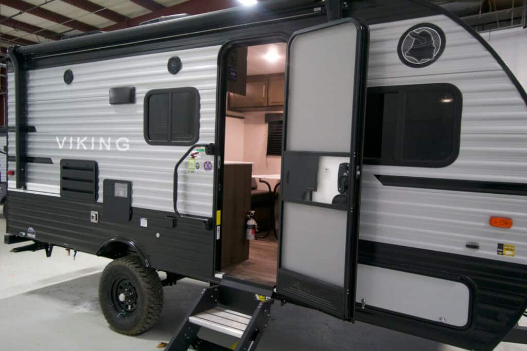Exterior of travel trailer with all terrain package - Coachmen Viking Ultra-Lite