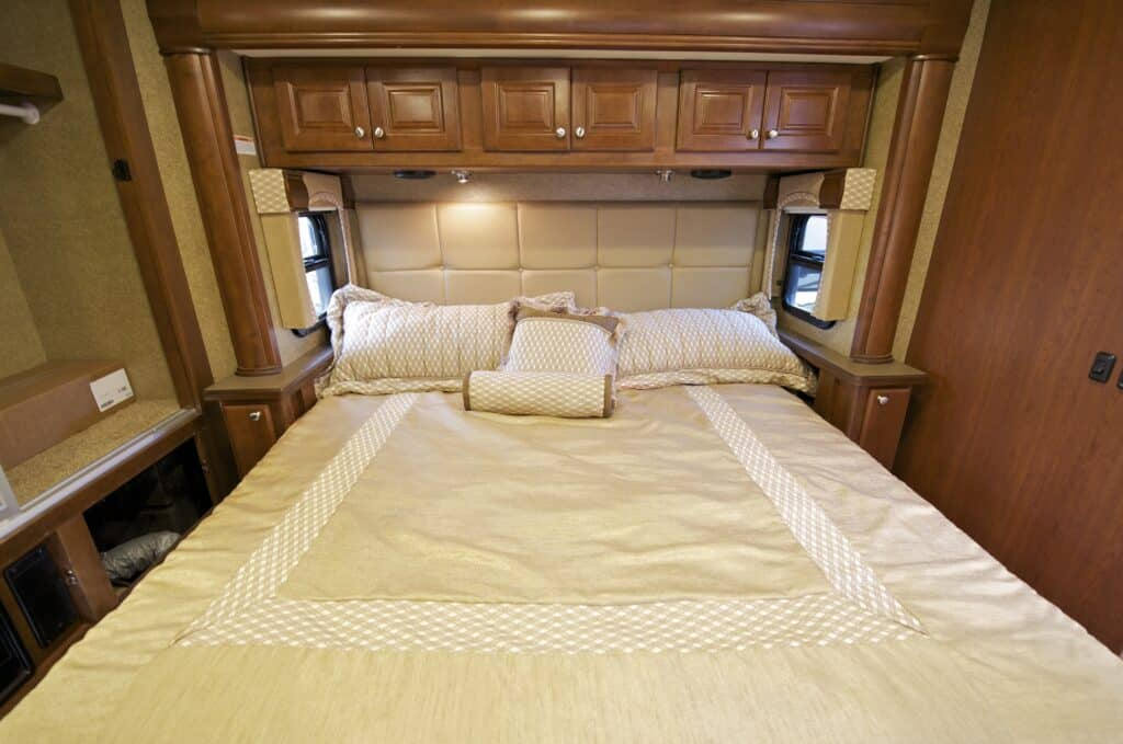 RV camper with king size bed