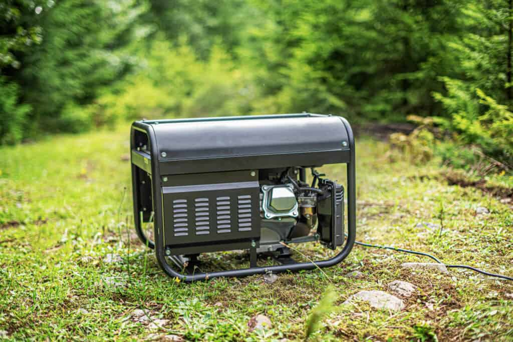 generator in a forested area - quiet generator for RV